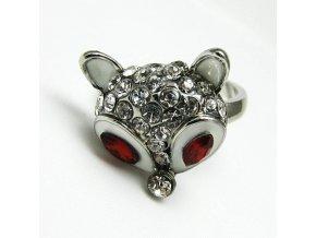 BPK0048 liska prsten s kaminky