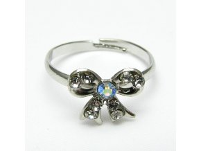 BPK0069A prsten maslicka s kaminky stribrna
