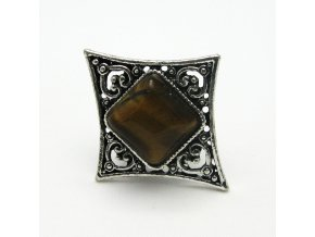 BPK0098B prsten s hnedym kamenem