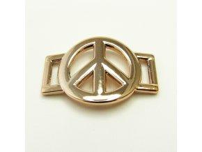 KMD0014 zlaty meziclanek peace