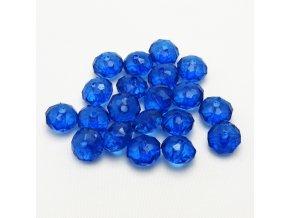 RPL0046A brouseny plastovy koralek modry