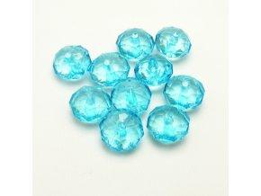RPL0047A brouseny plastovy koralek modry