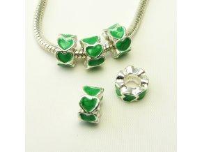 PKS0047 smaltovany komponent srdicko zelene