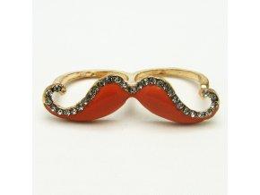 BPK0104 zlaty prsten knir s kaminky oranzovy