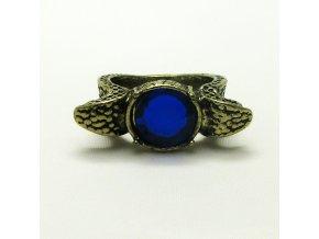 BPK0106 mosazny prsten s modrym kamenem