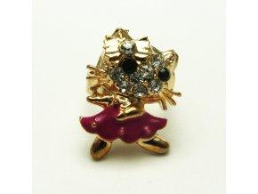 BPK0113 zlaty prsten kocicka Kitty