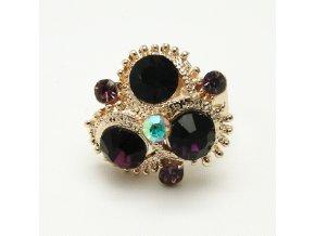 BPK0127A zlaty prsten s fialovymi kaminky