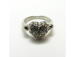 BPK0178 prsten srdicko s kaminky
