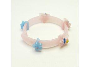 BRP0018 detsky plastovy naramek ruzovy