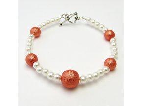 BRR0048 koralkovy naramek oranzovy
