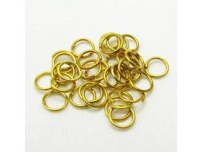 KSK0001F spojovaci krouzek 6mm zlaty