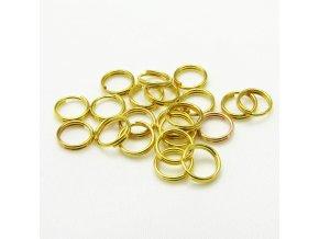KSK0005B spojovaci krouzek dvojity 6mm zlaty