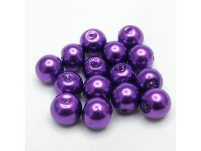 RSK0015V koralky voskovane perly fialove
