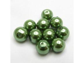 RSK0016D koralky voskovane perly zelene