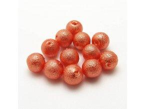 RSK0023C koralky voskovane vroubkovane perly oranzove