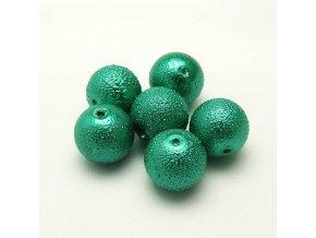 RSK0024K koralky voskovane vroubkovane perly zelene