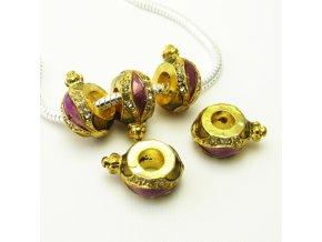 PRV0031 kovovy koralek zlaty