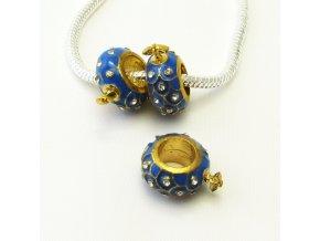 PRV0046 kovovy koralek modry