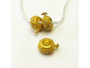 PRV0047 kovovy koralek zluty