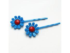 BVS0043B sponka do vlasu kyticka modra