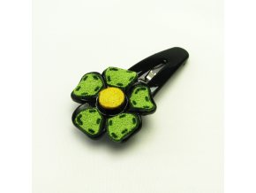 BVS0056 sponka do vlasu kyticka zelena