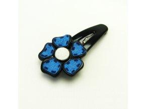 BVS0060 sponka do vlasu kyticka modra