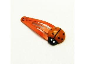 BVS0069B sponka do vlasu beruska oranzova