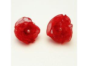 BNO0011 nausnice ruzicky cervene