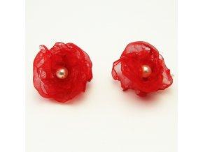 BNO0013 nausnice ruzicky cervene