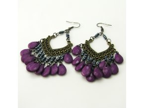 BNO0014B nausnice orientalni fialove