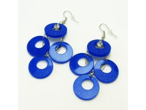 BNP0030A plastove nausnice kruhy modre