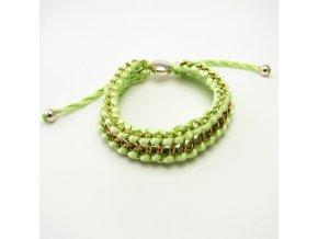 BRO0062 zeleny propletany naramek