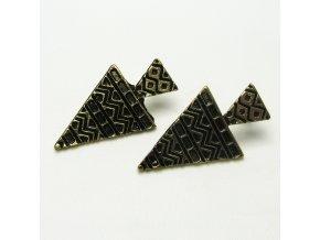 BNC0106A nausnice pecky mosazne trojuhelniky