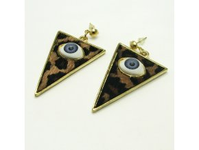 BNC0112 nausnice pecky trojuhelniky s okem