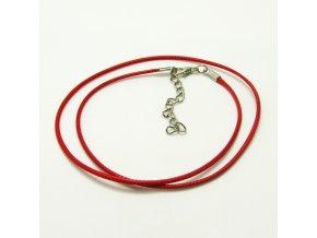 NSZ0013 voskovana snurka cervena