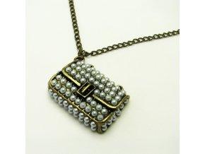 BHR0412 nahrdelnik kabelka s perlickami