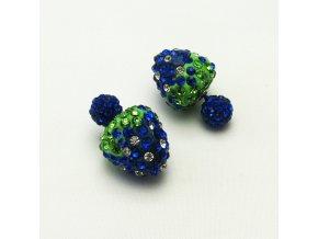 BNC0270A nausnice pecky perly s kaminky modre
