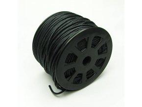 NBS0001 bavlnena voskovana snurka 2mm cerna
