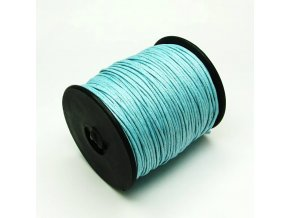 NBS0002C bavlnena voskovana snurka 1mm svetle modra