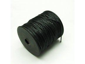 NBS0003A bavlnena voskovana snurka 15mm cerna