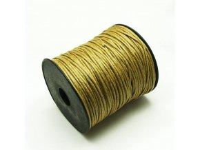 NBS0003B bavlnena voskovana snurka 15mm bezova