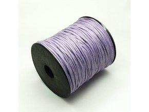 NBS0003D bavlnena voskovana snurka 15mm fialova