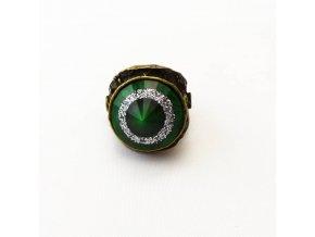 BPV0080 prsten se zelenym kamenem