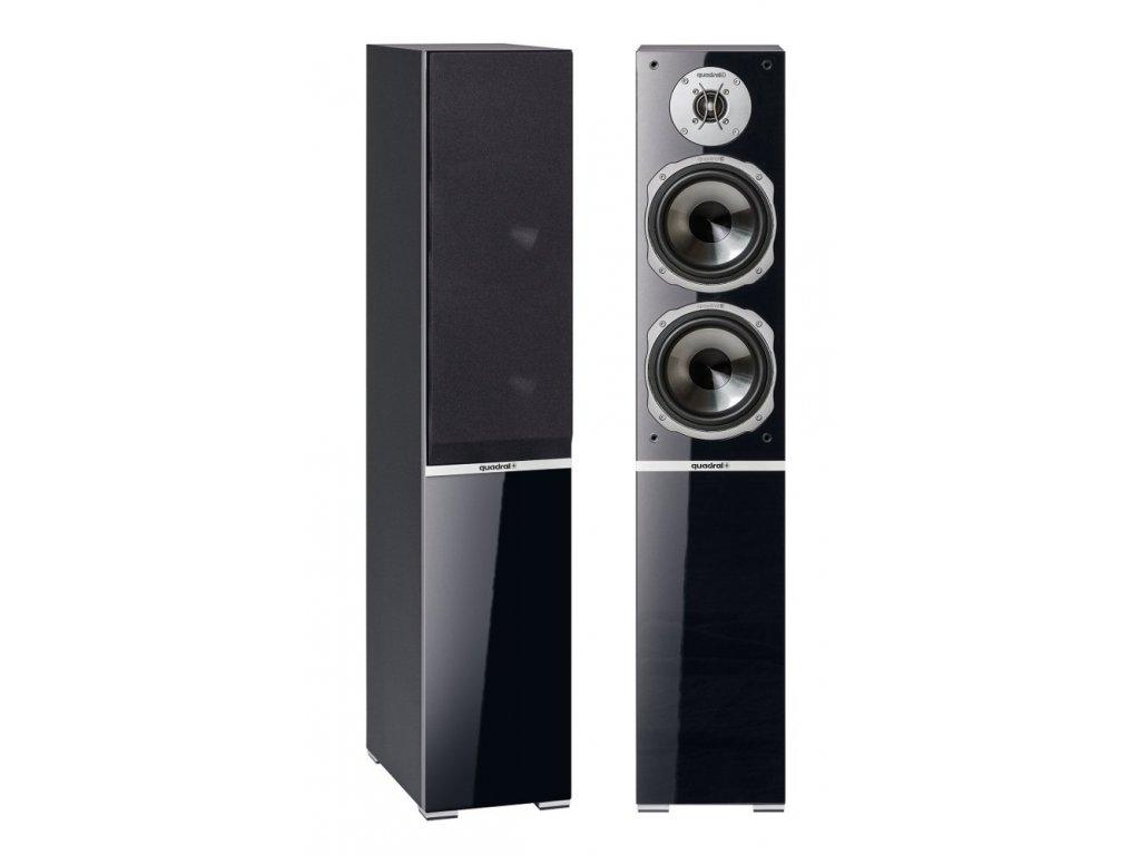 Kvalitní sloupové (podlahové) 3-pásmové reprosoustavy s impedancí 4 Ohmu, vysokou citlivostí a mohutným zvukem Quadral Argentum 570