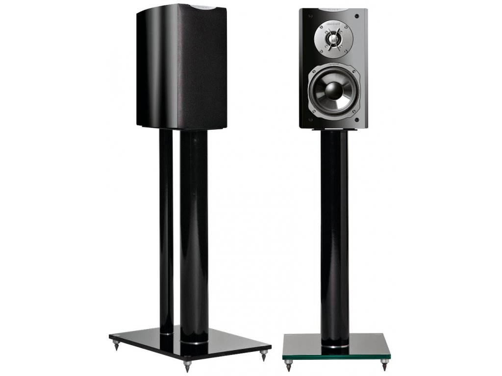 Kvalitní regálové (stojanové) 2-pásmové reprosoustavy s impedancí 4 Ohmu, vysokou citlivostí a mohutným zvukem Quadral Ascent 20 LE