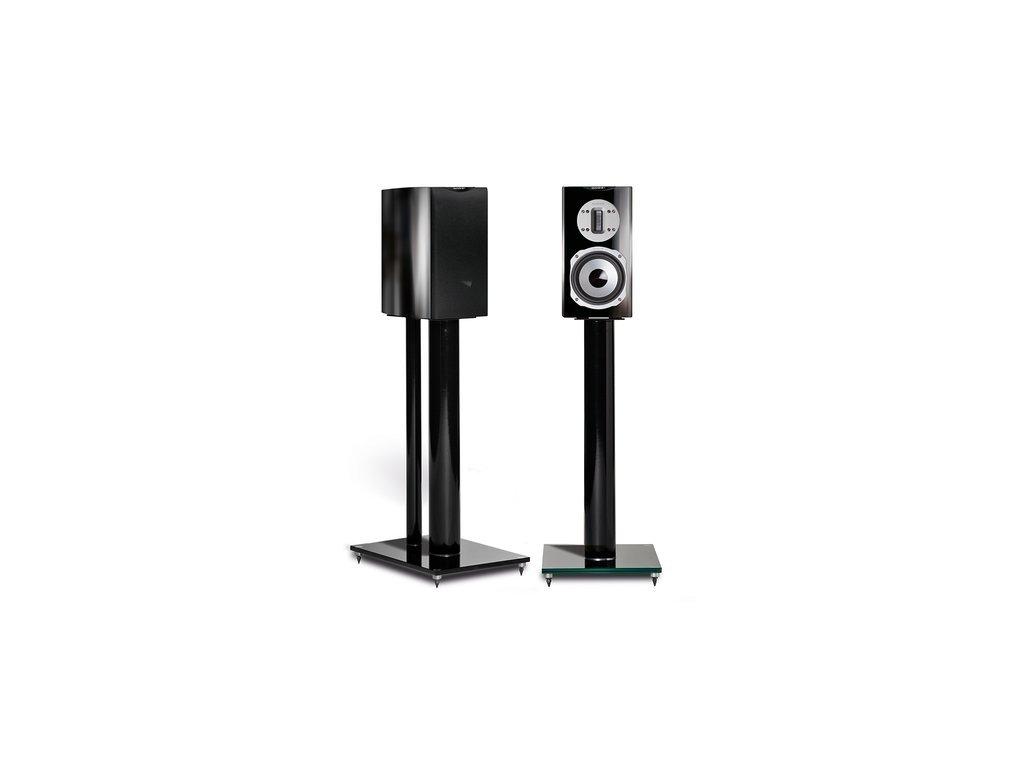 Kvalitní regálové (stojanové) 2-pásmové reprosoustavy s impedancí 4 Ohm, vysokou citlivostí a mohutným zvukem Quadral Chromium Style 2