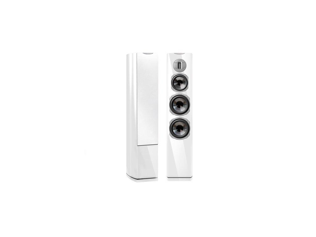 Kvalitní sloupové (podlahové) 3-pásmové reprosoustavy 200W s impedancí 4 Ohmy, vysokou citlivostí a mohutným zvukem Quadral Chromium Style 8