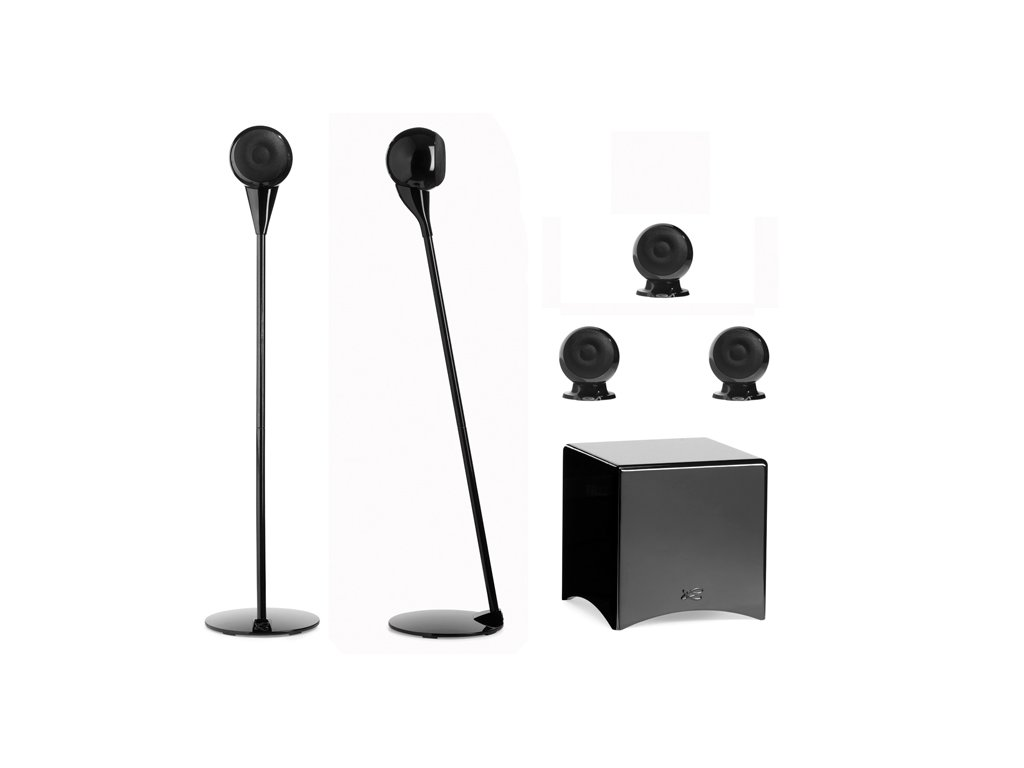 Kvalitní regálová nástěnná sestava pro ozvučení domácího kina 5.1 Cabasse Eole 3 Systém 5.1