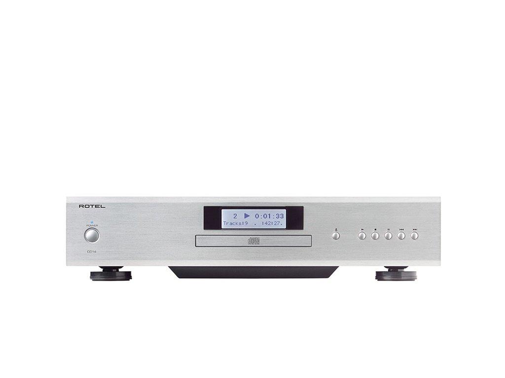 Kvalitní CD přehrávač se špičkovým D/A převodník Wolfson 24 bit/192kHz Rotel CD14