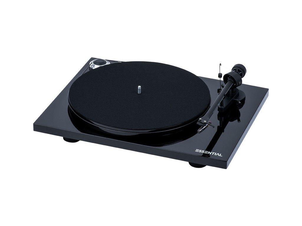 Kvalitní gramofon s tichým motorem, MDF talířem a MM opředzesilovačem Pro-Ject Essential III BT + OM10
